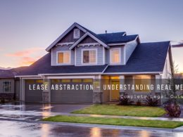 Lease Abstraction Understanding Real Meaning